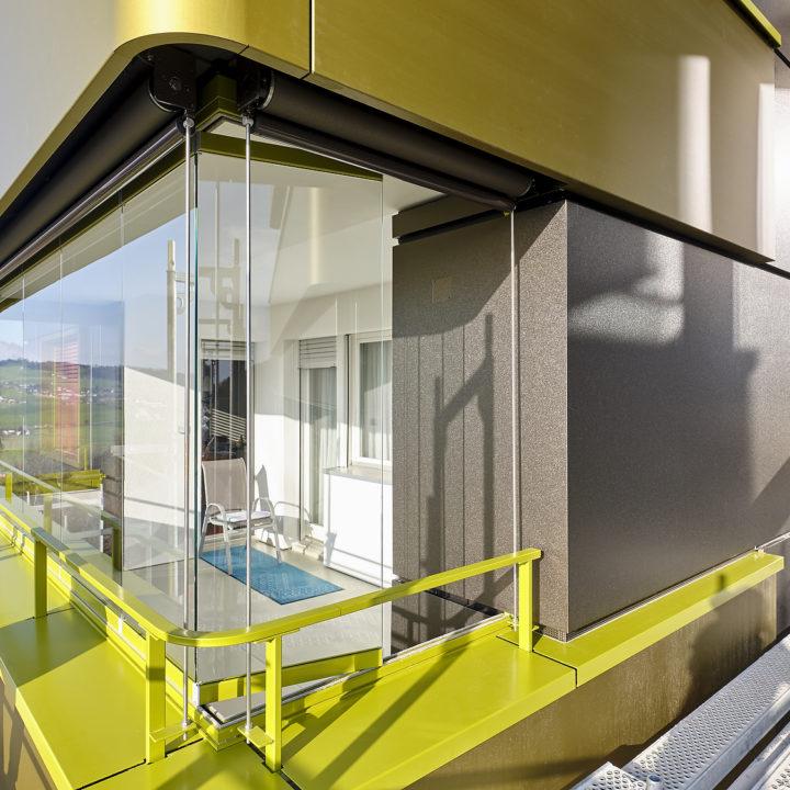 balkonverglasung bern spezielle farbe