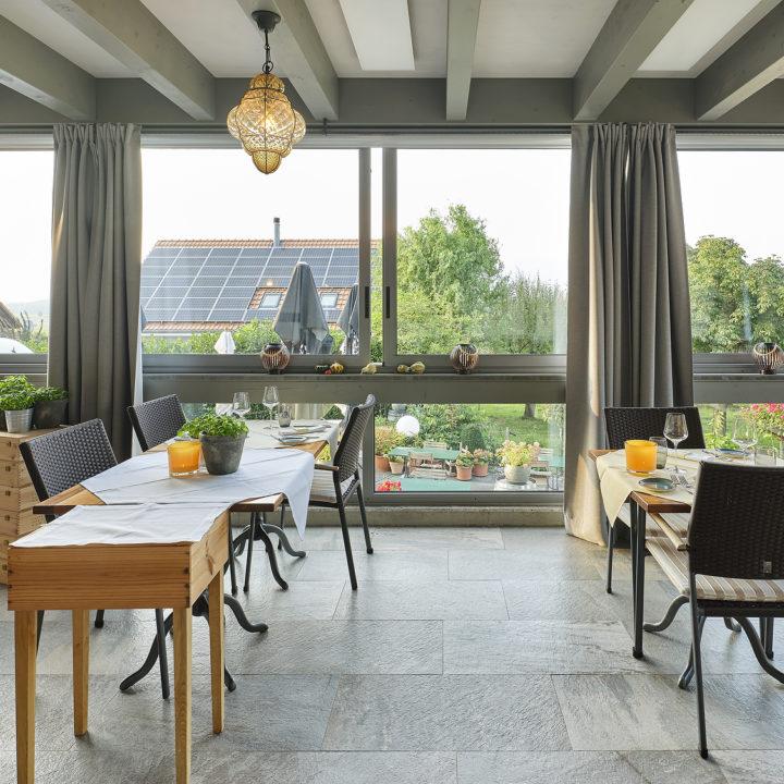wintergarten verglasung isoliert restaurant taverna romana
