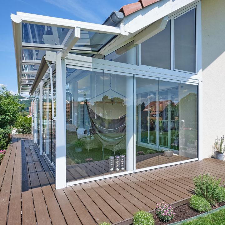 frontansicht glashaus