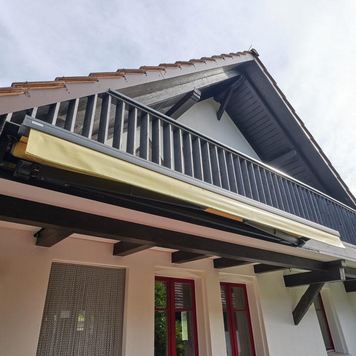 terrassenmarkise sunrain eingefahren