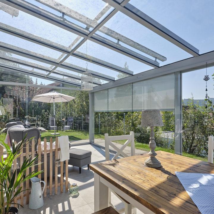 glashaus sicht in die natur