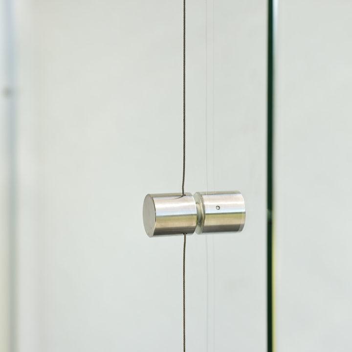 drehknopf fuer zum oeffnen der ganzglasscheibefaltwand